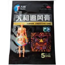 Лечебный пластырь Тяньхэ Чжуйфэн Гао 5 шт. (Tianhe Zhuifeng Gao) обезболивающий, противовоспалительный